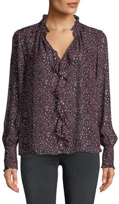 Parker Tilly Printed Ruffle Combo Blouse