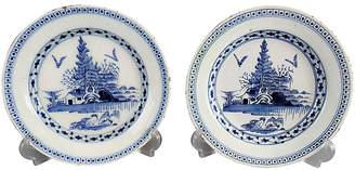 One Kings Lane Vintage 18th-C. English Delft Plates - Set of 2