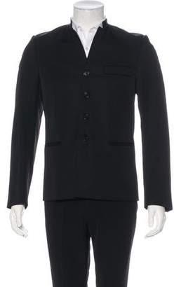 Christian Dior Mandarin Collar Wool Blazer