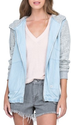 Women's Volcom Sea Enemy Mixed Media Jacket $69.50 thestylecure.com