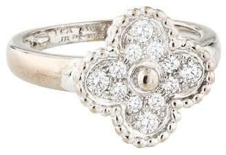 Van Cleef & Arpels Diamond Vintage Alhambra Ring