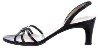 Salvatore Ferragamo Patent Leather Strap Sandals