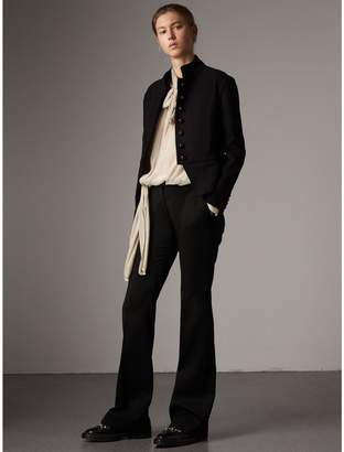 Burberry Wide-leg Wool Tailored Trousers