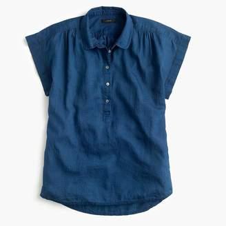 J.Crew Tall collared popover shirt in indigo gauze