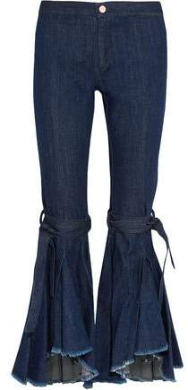 Maggie Marilyn Firm In Her Beliefs Frayed High-Rise Flared Jeans