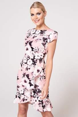 Paper Dolls Womens Floral Midi Dress - Pink