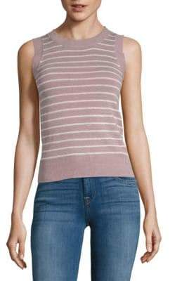 John & Jenn Striped Knit Tank Top