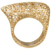 Yossi Harari Lace 18k Diamond Ring, Size 6