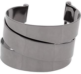 Marc by Marc Jacobs Womens Ribbons Narrow Wrap Cuff Bracelet Gray