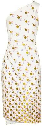 Peter Pilotto Spot-print One-shoulder Cady Dress