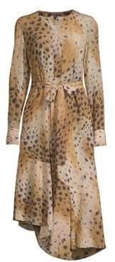 Lafayette 148 New York Delancey Leopard Print Dress