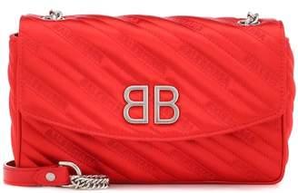 Balenciaga BB Round satin shoulder bag