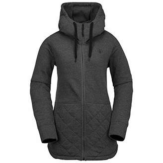 Volcom Women's Winrose Pullover Baselayer Hooded Fleece Snow Sweatshirt