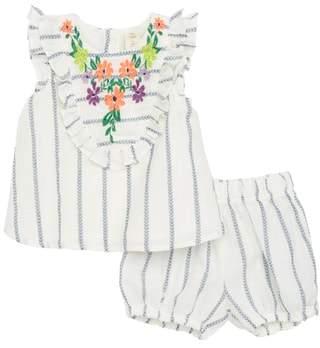 Tucker + Tate Embroidered Ruffle Dress