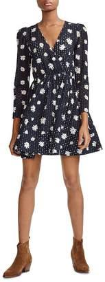 Maje Rayom Daisy Print Eyelet Dress