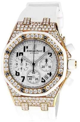 Audemars Piguet Royal Oak Offshore Chronograph Diamond Solid Gold & Rubber Strap 37mm Unisex Watch