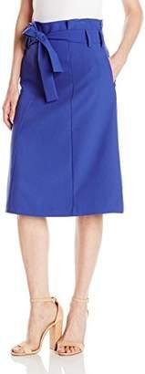 Lark & Ro Women's Tie Waist Skirt