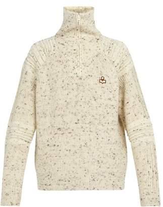 Isabel Marant Lelly Wool Half Zip Sweater - Mens - Beige