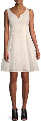 Donna Karan Women's Sweetheart Embroidered Fit-&-Flare Dress