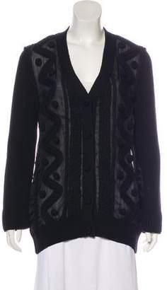 Valentino Wool & Silk-Blend Cardigan