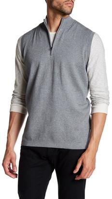 Peter Millar Shelby Quarter Zip Vest $165 thestylecure.com