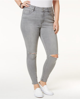 American Rag Trendy Plus Size Sierra Wash Ripped Skinny Jeans, Only at Macy's $69.50 thestylecure.com