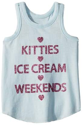 Chaser Kids Extra Soft Kitties Weekends Tank Top Girl's Sleeveless