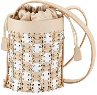 Paco Rabanne Iconic Mini Bicolor Bucket Bag
