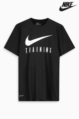 Next Mens Nike Gym Training Black Dry Tee
