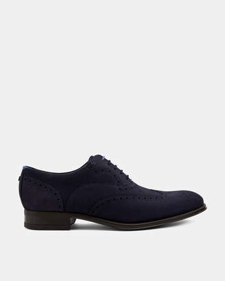 Ted Baker NELSNN Suede wingcap brogues