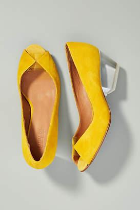 Emma.Go Emma Go Adrienne Lucite Peep Toe Heels