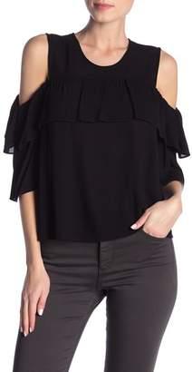 5fefb5b09ab3e5 BCBGMAXAZRIA Black Cold Shoulder Women s Tops - ShopStyle