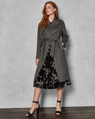Ted Baker ISMAAY Midi length reversible wool wrap coat