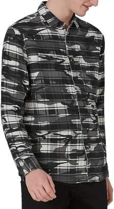 Topman Camo Print Check Shirt