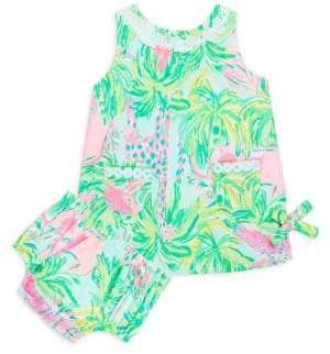 Lilly Pulitzer Baby Girl's Two-Piece Printed Cotton Shift Dress and Bloomers Set