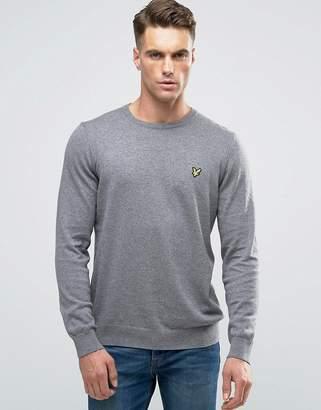 Lyle & Scott Crew Sweater Cotton Merino In Gray