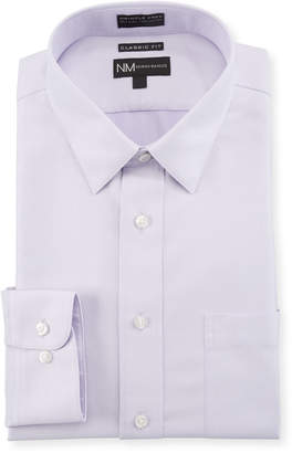 Neiman Marcus Men's Classic Fit Non-Iron Dobby Textured Solid Dress Shirt