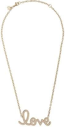 Sydney Evan large pavé love necklace