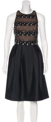 Carmen Marc Valvo Embellished Cocktail Dress