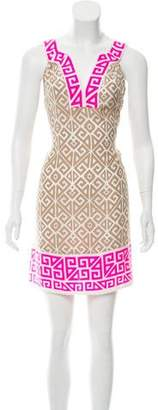 Alice & Trixie Printed Silk Sleeveless Mini Dress