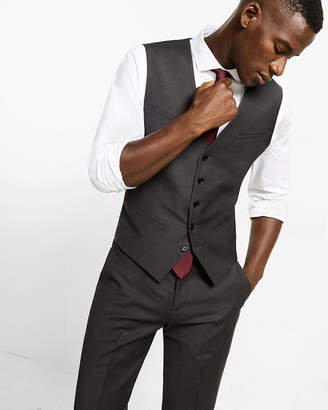 Express Charcoal Wool Blend Suit Vest