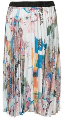 Romance Was Born Earth pleated skirt