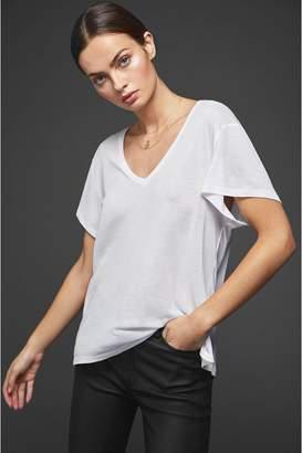Anine Bing Deep Vneck Tshirt - White