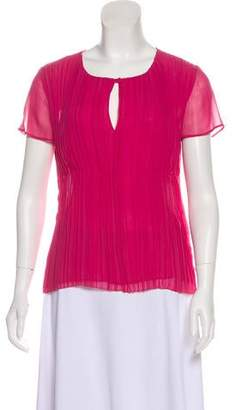 Philosophy di Alberta Ferretti Silk Short Sleeve Top