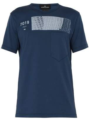 Stone Island Shadow Project - Shadow Project Printed Cotton T Shirt - Mens - Blue