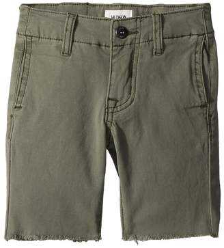 Hudson Raw Hem Sateen Chino Shorts in Green Ash Boy's Shorts
