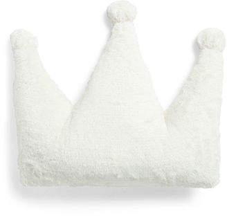 18in Sparkle Bunny Crown Pom Pom Pillow