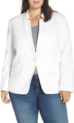 Gibson Inverted Notch Collar Cotton Blend Blazer