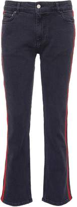 Victoria Beckham VICTORIA, Stripe outseam slim fit boyfriend jeans