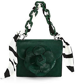 Oscar de la Renta Women's Baby Tro Flower Calf-Hair Bag